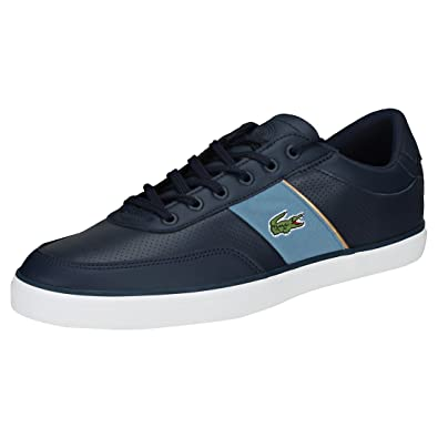 1ae688780add7c Lacoste Court-Master 318 1 Mens Trainers Navy Blue - 8 UK
