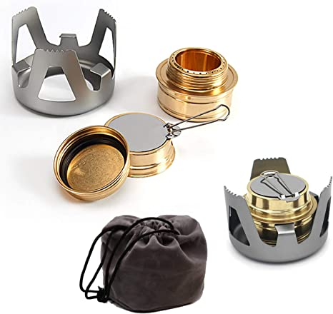 Mini Alcohol Burner Stove for Camping Backpacking Hiking Outdoor Picnic Cooking