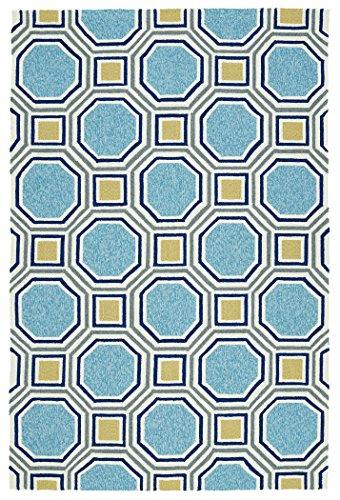 Kaleen Rugs Escape Indoor/Outdoor Rug, Blue, 2' x 3'