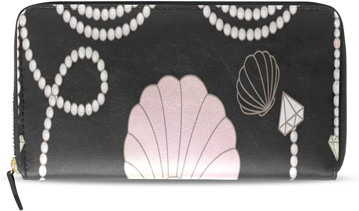 Collar de perlas Joyería de lujo Pasaporte largo Bolsos de embrague Monedero con cremallera Bolso Bolso organizador de dinero Titular de la tarjeta de crédito dama Mujer Chica Hombre Regalo de viaje