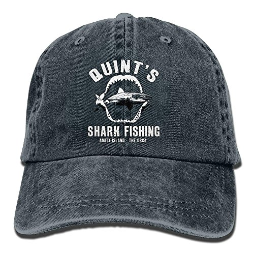 hongwenjy Quint's Shark Fishing Washed Retro Adjustable Jeans Cap Gym Caps Adult -