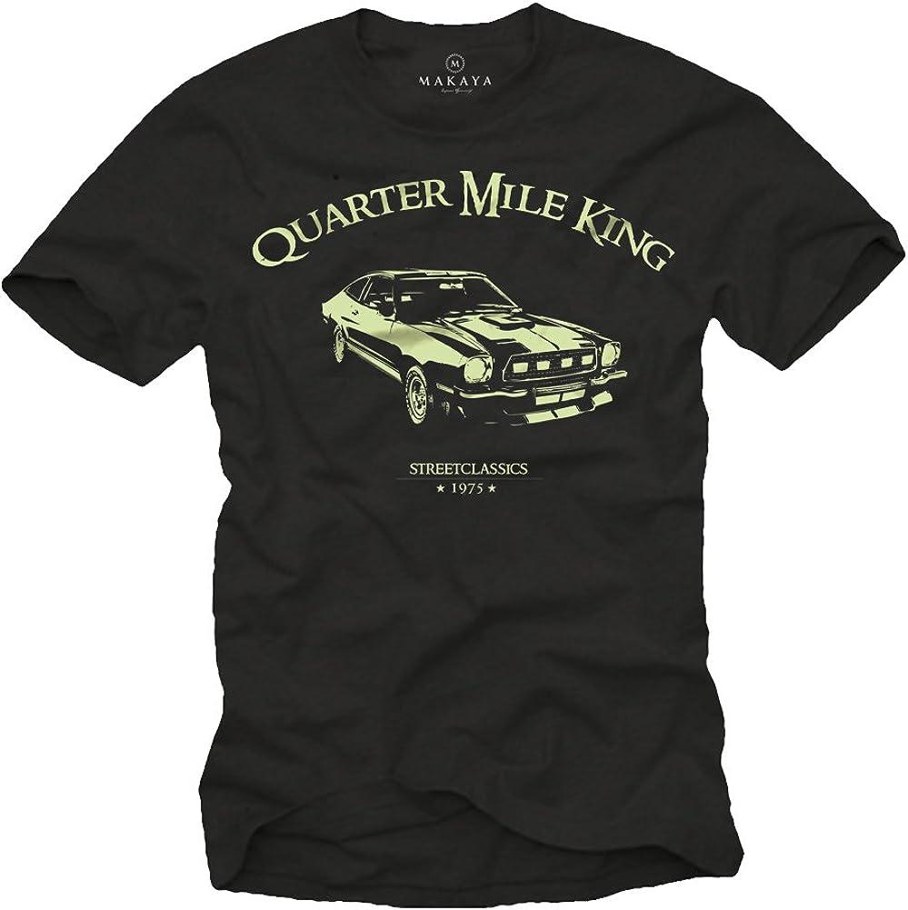 Ford Mustang T-Shirt Noir Homme Quarter Mile King Logo la Chaux Taille S-XXL
