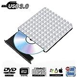 External CD DVD Drive USB 3.0,Portable Optical CD Drives DVD-RW Rewriter Burner