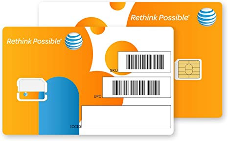 At&t Nano SIM Card for iPhone 5, 5c, 5s, 6, 6 Plus, 7, 8, X, and iPad Air As Seen In the Picture