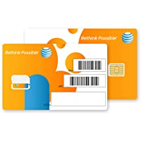 AT&T 2-PK Nano SIM Card 4G LTE 4FF, 4488A, GSM GoPhone Prepaid or Contract
