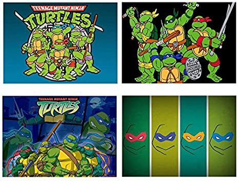 4 manteles individuales con motivos de Teenage Mutant Ninja ...