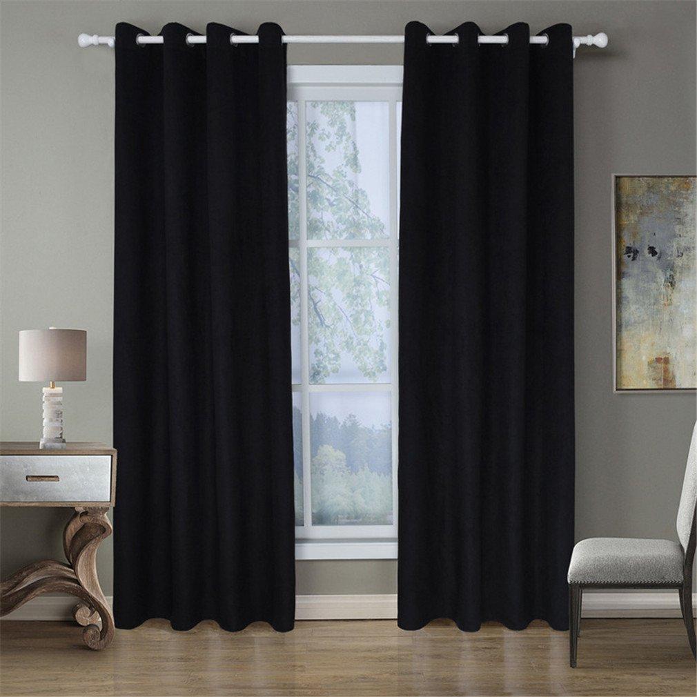 ZXZ-GO Rideaux occultants isol/és thermiquement Tissu de Surface de Polyester 100/% Bouchent 40/% 70/% Gain de Soleil//Chaleur Lavable en Machine Une Paire