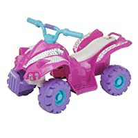 Pink Hello Kitty Battery Operated Quad Bike Childrens Outdoor Indoor Ride-On