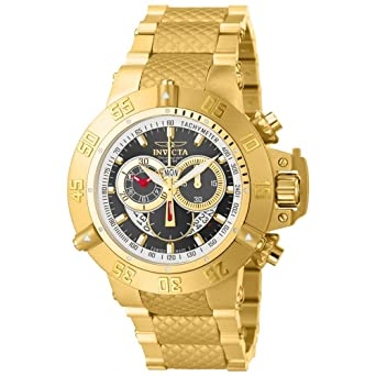 Invicta Men's 14454 Subaqua Analog Display Swiss Quartz Gold Watch