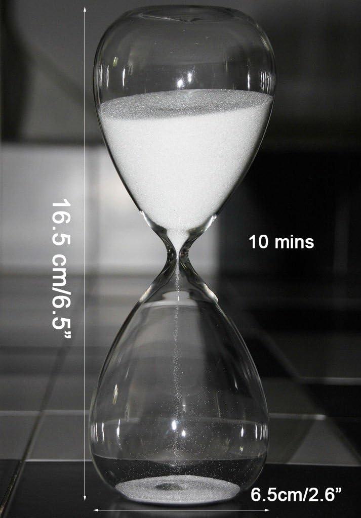 rose 10 Minutes Grand sablier color/é en verre tendance D/écoration d/'int/érieur ou cadeau de No/ël et danniversaire