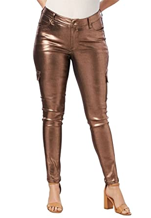 78a0f58116a6 Roamans Women s Plus Size Glam Skinny Cargo Pant at Amazon Women s ...