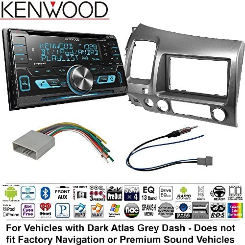 Buy Kenwood DPX503BT Double DIN CD Bluetooth SiriusXM Car Stereo (Replaced DPX502BT) Single Double Din Dash Kit Harness Antenna for 2006-2011 Honda Civic