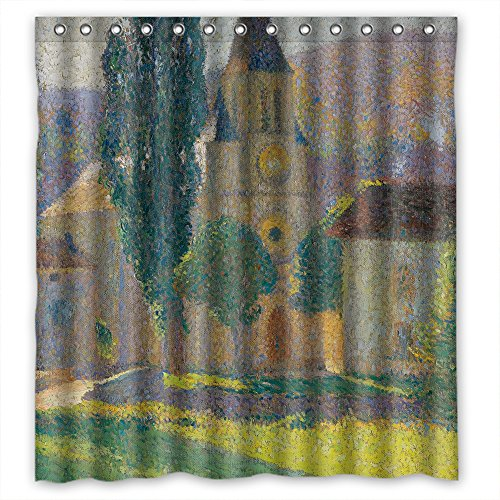 MaSoyy Polyester Henri Martin - L Eglise De Labastide Du Vert Shower Curtains Width X Height / 72 X 72 Inches / W H 180 By 180 Cm Gift Or Decor For Her Boys Kids Boys Lover Relatives. Ho (Bath Vert)