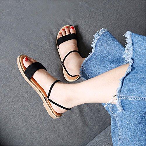 Toe A Sandalias Antideslizantes Moda Dos Formas Playa Summer Planas Zapatillas de Simple Sra Peep de Ante YMFIE Vestir UTwntSRdxt
