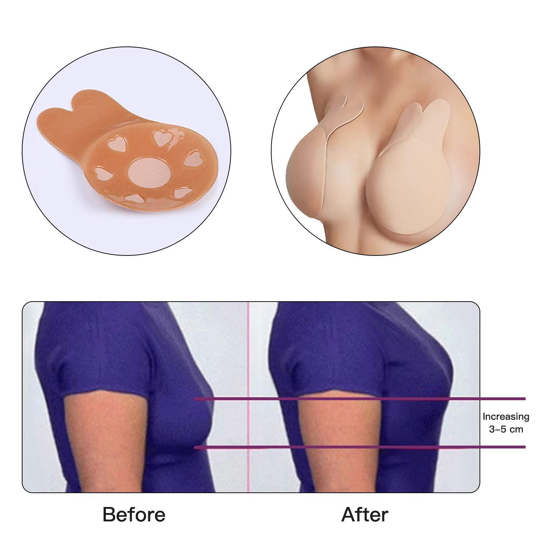 Adhesive Bra Strapless Breast Lift Tape Invisible Rabbit Bra Tape for Women 2Pcs