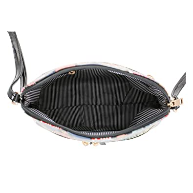 Glossy Magazine Cover Lightweight Medium Dome Crossbody Bag Michelle Obama Purse | Black: Handbags: Amazon.com