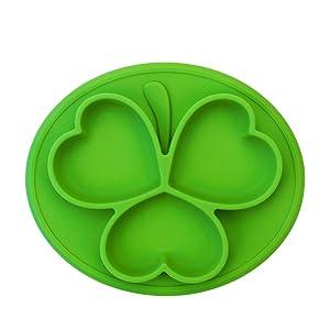 Silicona Kids Placemat con aprobado por la FDA, sin BPA, Se adapta a la mayoría de las bandejas de trona, lavavajillas, microondas y caja fuerte para el horno.