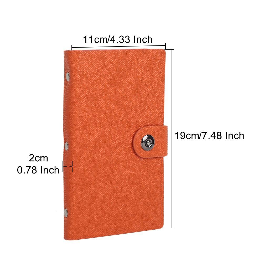 300/pochettes Tenn Well Classeur pour cartes de visite Fermeture magn/étique Orange