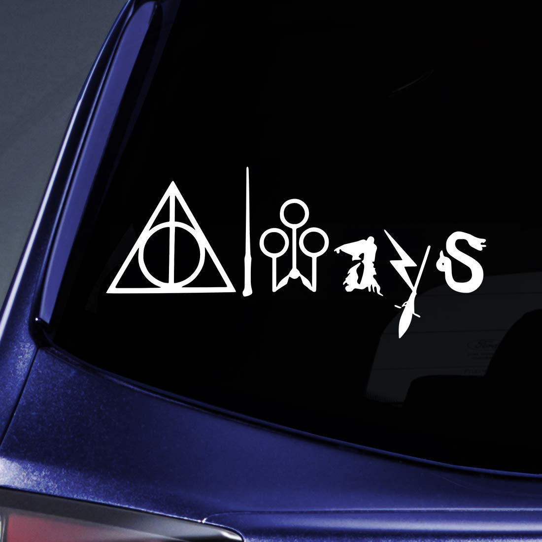 CMI187 Always Harry Potter WHITE Vinyl Car//Laptop//Window//Wall Decal 8.75 x 4.5 Bargain Max Decals