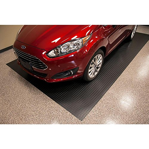 Hdx 7 5 ft x 14 ft diamond black universal garage for Universal flooring