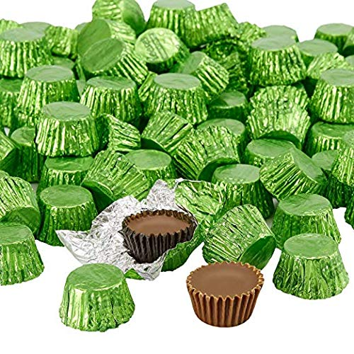 Tam Tam Candy Peanut Butter Cups Miniatures | Independence Day Chocolate | Dark Milk Chocolate | Kiwi Green - 1 lb ()