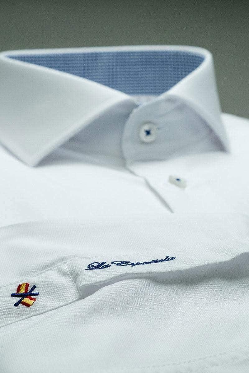 La Española Camisa de Vestir Blanca: Amazon.es: Ropa y accesorios