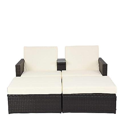 Amazon.com: Kampoojoo – Juego de muebles de mesa de mimbre ...