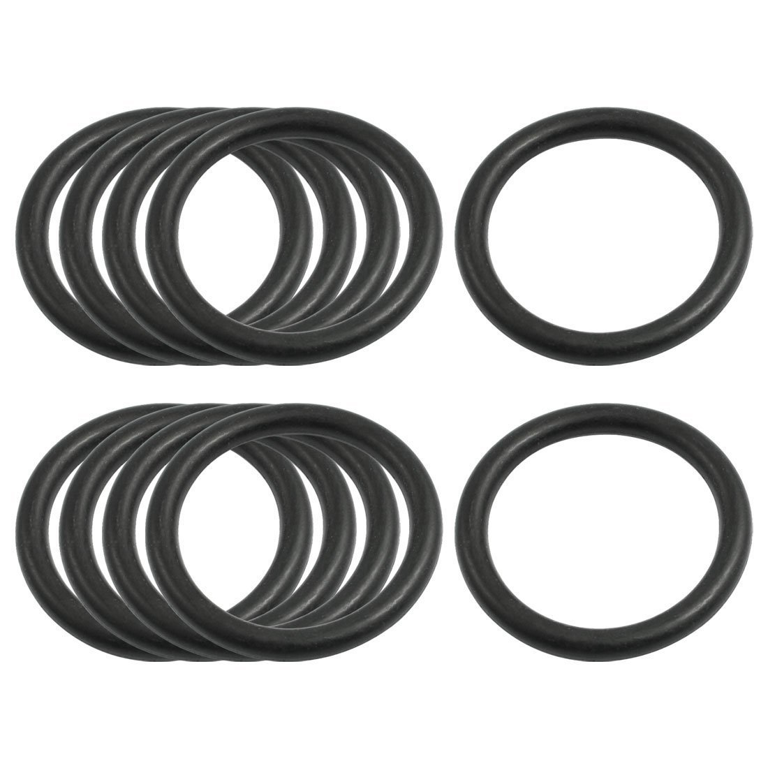 sourcingmap® 10 Pcs Oil Seal O Rings Black Nitrile Rubber 36mm OD 4mm Thickness a12101500ux0214