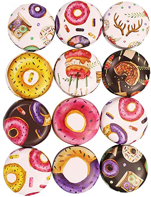 4 x 4 x 2.2cm Cartoon Donuts SUPVOX 12 St/ück Mini Metall leere Dosen Runde Blechdose Vintage Wei/ßblech Beh/älter Wiederverwendbar Blech Box f/ür Tee S/ü/ßigkeiten DIY Kerze Hochzeit Party Geschenke