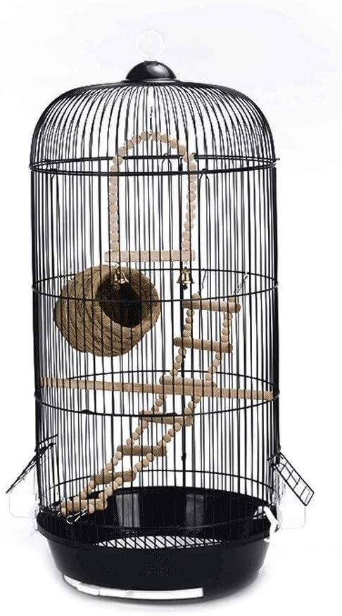 DAGUAI Pájaro Jaula clásico de Lujo cúpula Redondo pájaro enjaulado paradeadero Salvaje pájaro gorrión pájaro Canario pájaro Jaula Altura 74cm casa Mascota