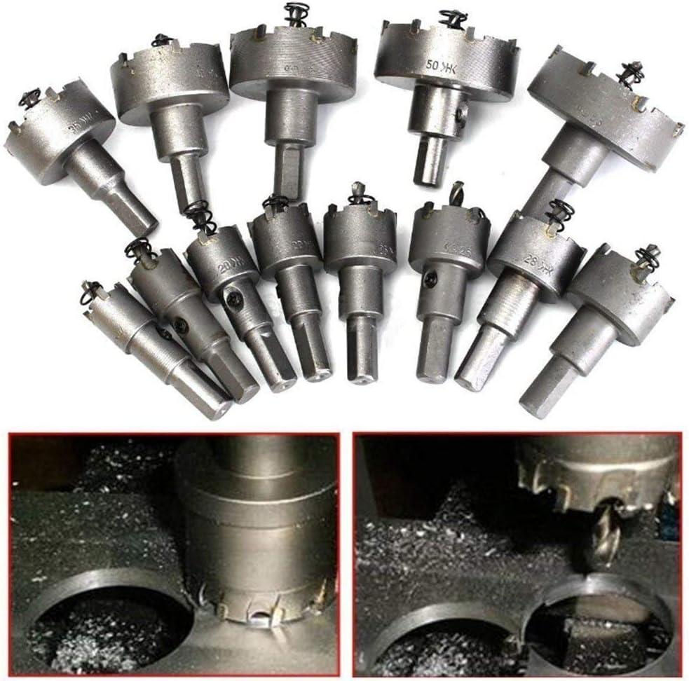 13 unidades - juego de sierra de circular, punta de carburo de acero inoxidable, broca de metal TCT, medida de 16 mm - 53 mm.