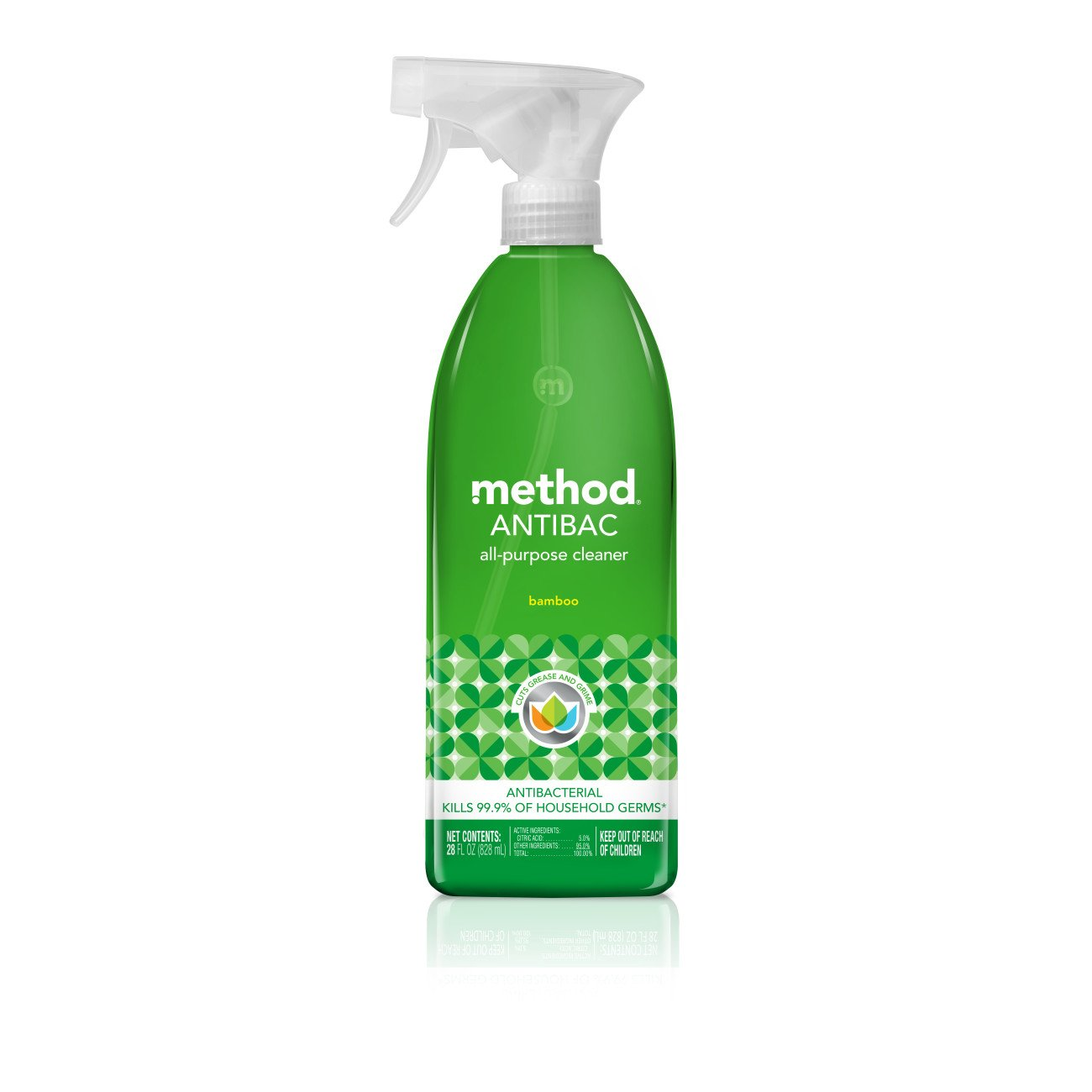 Method Antibacterial All Purpose Cleaner, Bamboo, 28 Ounce (Pack 8)