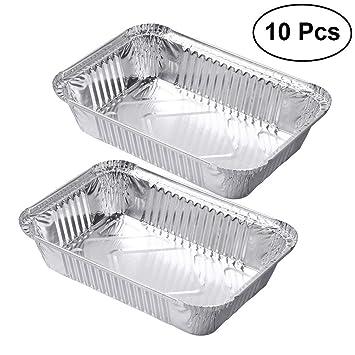 BESTOMZ 10pcs Desechables, Quiche Forma Aluminio Pantalla Molde Tarta de Frutas pastete Sartén, Desechables