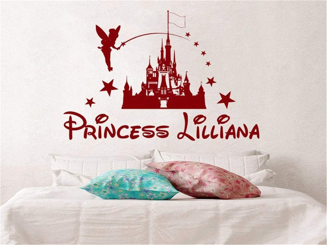 Tatuajes de pared Castillo de Disney Personalizado Princesa Chica ...