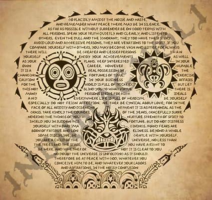 Amazoncom Desiderata Pirates Of The Caribbean Tattoo Print By