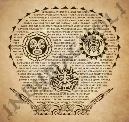 Desiderata Pirates of the Caribbean Tattoo Print by Magnoli Props ()