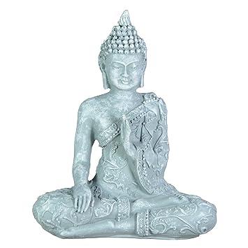 Amazon.de: Zen\'Light SBM1 Buddha-Figur Meditation 1 Stein, grau 10 x ...