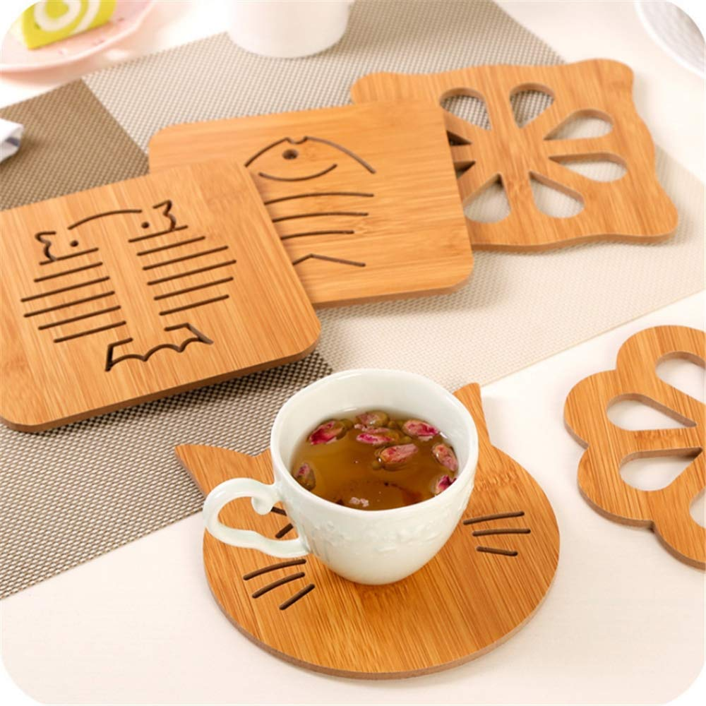 Hot Pads Trivet,Kitchen Trivet Mat,Heat Resistant Pads Teapot Trivet with Non-Slip Pads for Hot Dishes and Pot(Pack of 8)