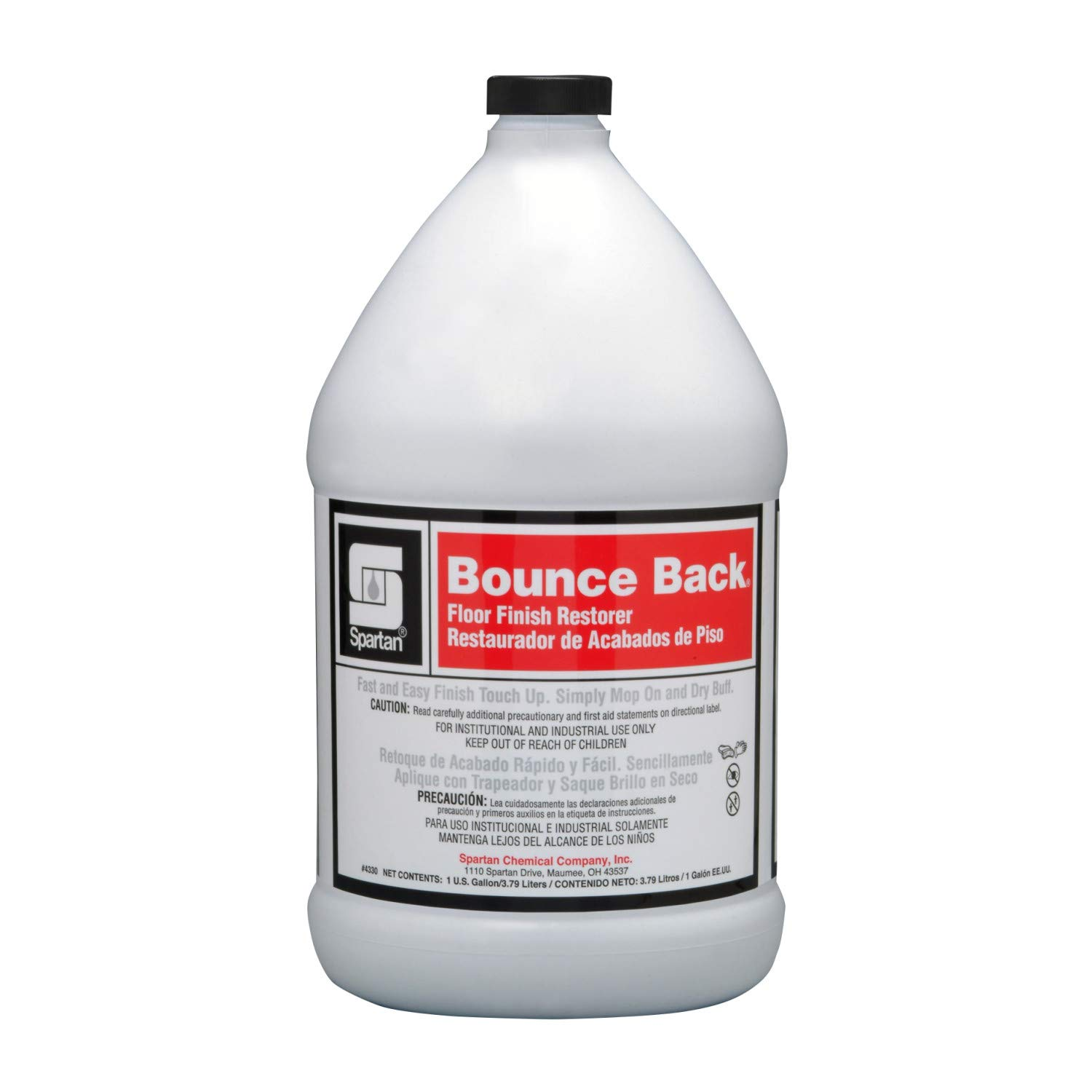 SPARTAN Bounce Back concentrated floor finish restorer CASE OF 4 by Spartan Chemical