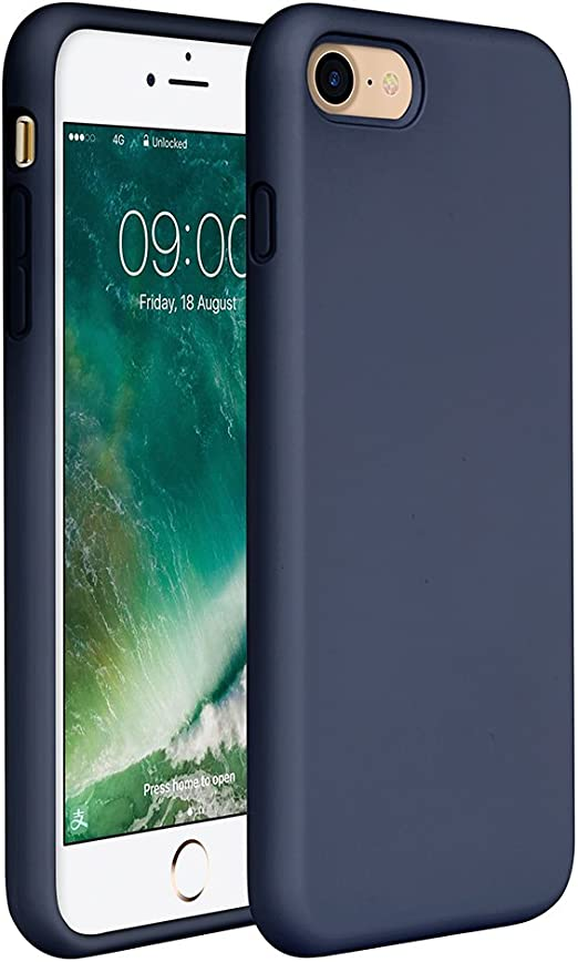 Amazon Com Miracase Iphone Se 2020 Case Iphone 8 Case Iphone 7 Silicone Case Gel Rubber Full Body Protection Cover Case Drop Protection For Apple Iphone Se 2020 Iphone 8 Iphone 7 4 7 Navy Blue
