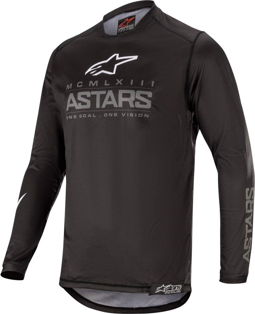 Graphite Black//Dark Grey Alpinestars 2020 Racer Jersey Large