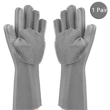 Guantes de silicona para lavar platos, guantes de limpieza de ...