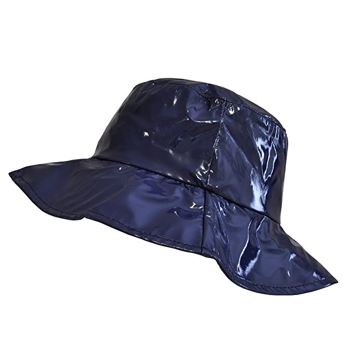 9741e7b5af901 TOUTACOO, Wide-Brimmed Vinyl Rain Hat Blue at Amazon Women's Clothing store:
