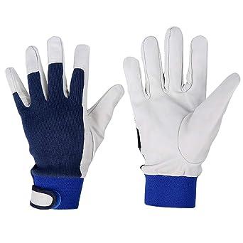 Guantes de soldadura de piel de cabra guantes de soldadura de jardinería guantes de trabajo de