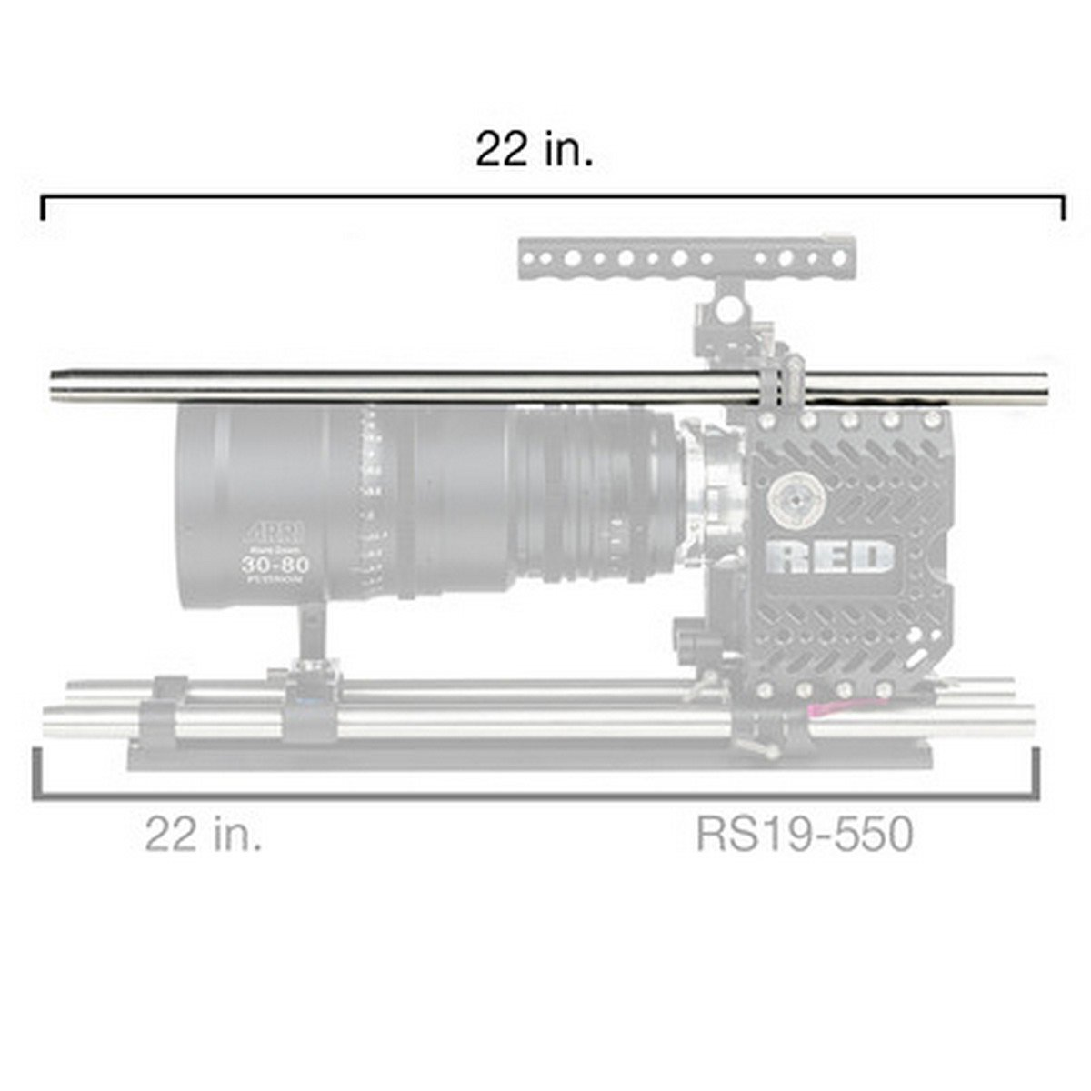 Ikan RS19-550 | 22 inch Stainless Steel 19 millimeter Rod