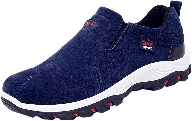 Schuhe Ohne Schnürsenkel Herren Trekking Antirutsch Elegant Sneaker Männer Wildleder Vintage Outdoor Freizeitschuhe