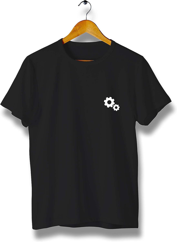 Gear Cogwheels T-Shirt Modern Cool Tees for Men Y171