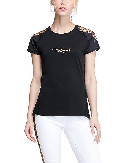 última selección calidad primero grande descuento venta Desigual Mujer Knitted Short Sleeve - Camiseta TS a de T de ...