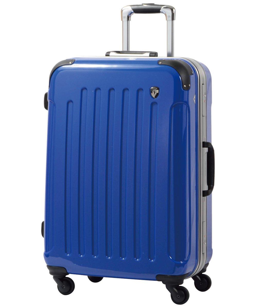 [グリフィンランド]_Griffinland TSAロック搭載 スーツケース 軽量 アルミフレーム ミラー加工 newPC7000 フレーム開閉式 B002976H04 M(中)型|ジャックブルー