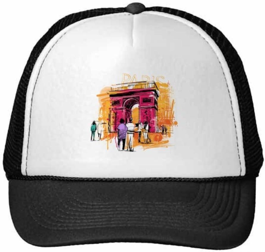 DIYthinker Gorra de béisbol Dibujo Arco del Triunfo París Francia ...